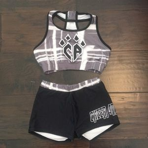 Other - Cheer Athletics Matching sports bra and shorts